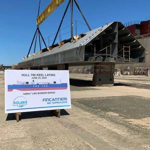 Keel Laid for Polaris New Energy LNG Bunker Barge