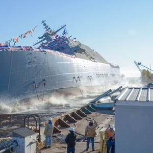 Video: Future USS Marinette (LCS 25) Launched