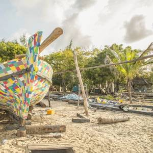 Boat Made of Flip-flops Sails for Cleaner Seas