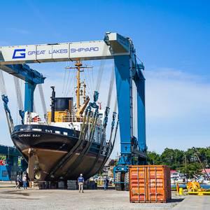 USCG Cutter Katmai Bay Enters Great Lakes Shipyard for Repair