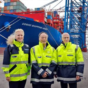 Chinese VP  Visits Hamburg Terminal