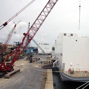 Halter Marine Launches US Navy Berthing Barge