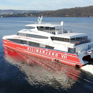 Incat Crowther Launches 45m Cat for AZAM