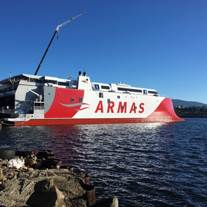 Incat Tasmania Launches 111 Meter Ferry