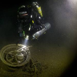 Telegraph Recovered from Lusitania Wreckage