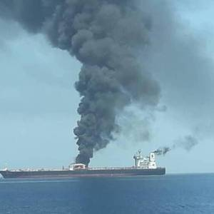 Two Tankers Attacked in Gulf of Oman
