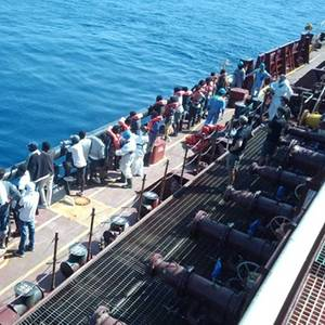Migrants Disembark Maersk Tanker After 38 Days on Board