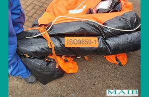 Life Raft from Missing Fishing Vessel Found off Scotland
