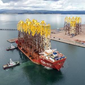 Video: 'Hawk' Brings In Moray East Offshore Wind Farm Jackets