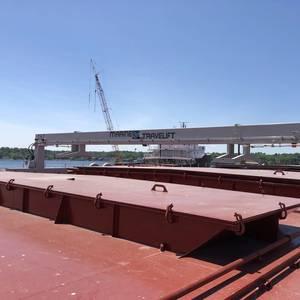 Marine Travelift Hatch Crane Installed on VTB's New Barge