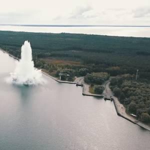 Video: World War II Bomb Explodes Underwater in Poland