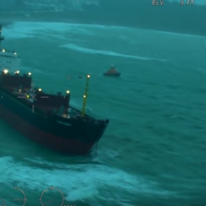 Video: Russian Bulker Aground Off England