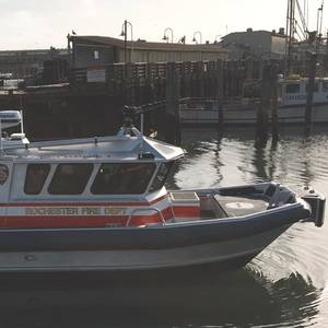 Moose Boats Delivers Fireboat to Rochester, NY