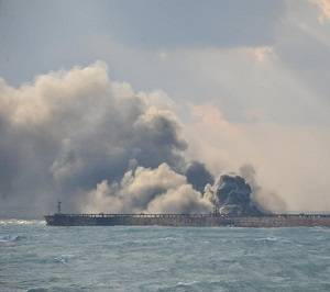 Burning Tanker Drifts into Japan's Economic Zone