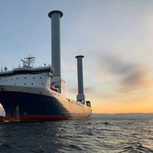 World's First Tiltable Rotor Sails Installed