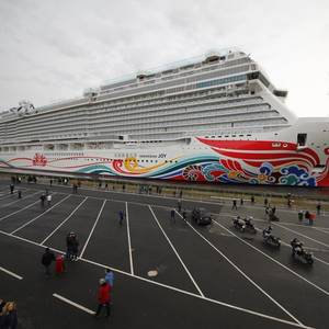 Meyer Werft Floats Out Norwegian Joy