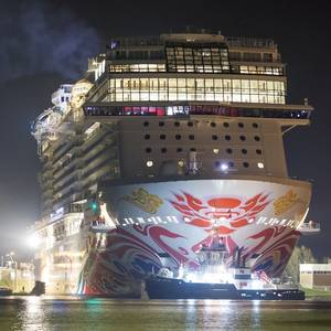 China-bound Norwegian Joy Sets Sail