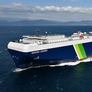 Meet the World's First Digital Smart Ship, the Japanese Built LNG-Fueled PCTC Sakura Leader