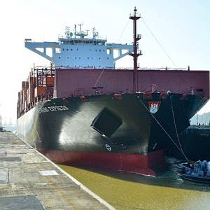'Mega-ship' the Largest to Ever Transit the Panama Canal