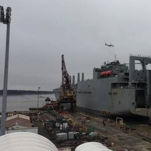 Video: USNS Charlton Arrives at Philly Shipyard for Repairs