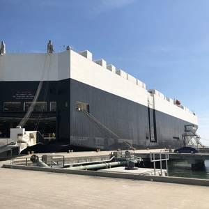 Post-Panamax Ro/Ro Makes First US Voyage