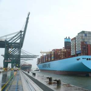 Madrid Maersk Call at Antwerp Port Sets New Record