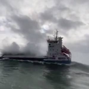 Video: Disabled Cargo Ship Rescued in Heavy Seas off Ireland