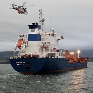Tanker Crew Member Medevaced in Brodick Bay