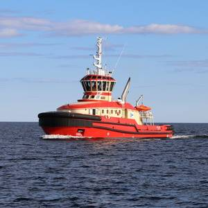 Port of Luleå 36m Hybrid Icebreaker Tug Delivered
