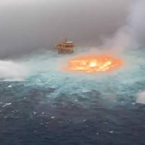 VIDEO: 'Eye of fire' Near Offshore Platform in Mexico Extinguished