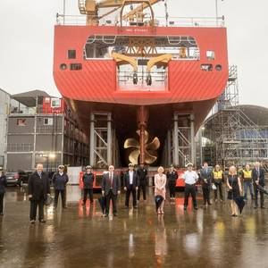 Video: Seaspan Shipyards Launches CCGS John Cabot