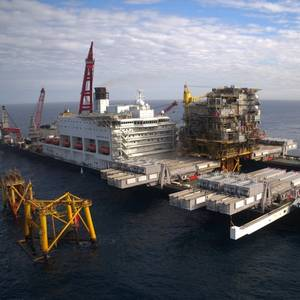 Pioneering Spirit to Remove Two Morecambe Bay Platforms