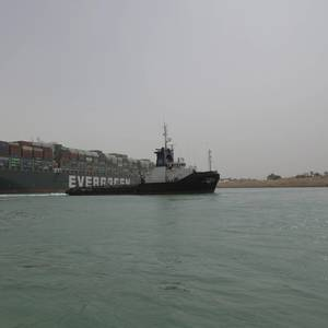 Japanese Shipowner Apologizes for Suez Canal Grounding