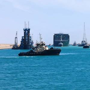 Traffic in Suez Canal Resumes After Ever Given Refloated