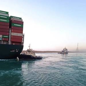 Suez Canal: 140 More Ships to Pass Through on Tuesday After Ever Given Unstuck