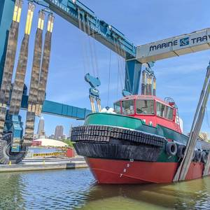 Great Lakes Shipyard Launches Tug Wisconsin
