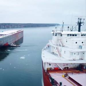 Video: Interlake Steamship's New Laker Floated Out