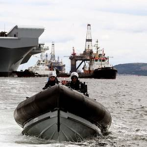 Theresa May hails HMS Queen Elizabeth