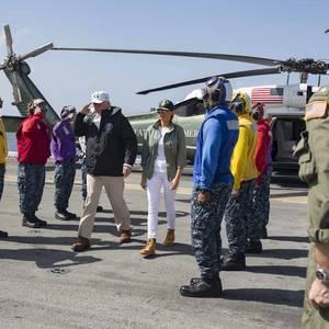 President Trump Visits USS Kearsarge