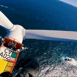 Video: USCG Performs Rescue Drill on Wind Turbine off Virginia