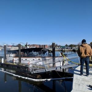 Coast Guard, Agencies Respond to Boat Fire