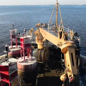 Coast Guard Swaps Buoys on Chesapeake Bay