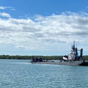 Barge Grounds in St. Marys River