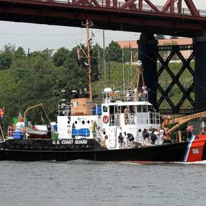 Dockside Repair of the USCGC Bluebell