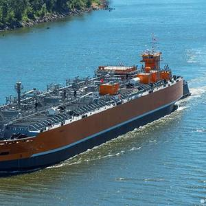 US-built Liquefied Gas Barge Delivered