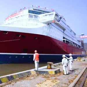 Video: Viking Line's New Flagship RoPax Launched in China