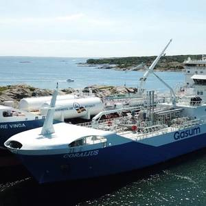 Gasum's Coralius Made 100th LNG Bunkering