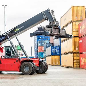 Indonesia Gets 1st Kalmar Eco Reachstacker