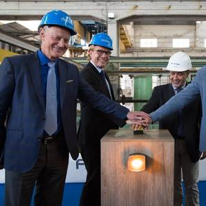 Windstar Cuts Steel for Second Star-class Ship from Fincantieri