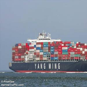 Containership Navos Unite Drops Boxes off Australia